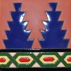 portuguese relief tile blue