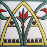 french relief tile yellow