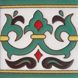 san miguel relief tile green