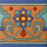 european relief tile light blue