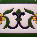 spanish relief tile yellow