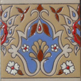 modern relief tile blue