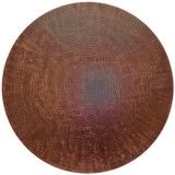 round copper tabletop