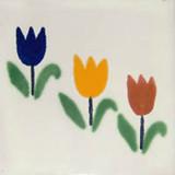 mexican tile tulipanes