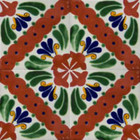 Mexican tiles artisan crafted