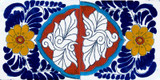 talavera tiles blue terra cotta