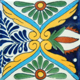 talavera tile green yellow