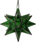green glass star lamp