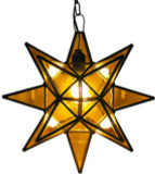 yellow stained glass star lamp