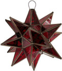 stained glass star lamp