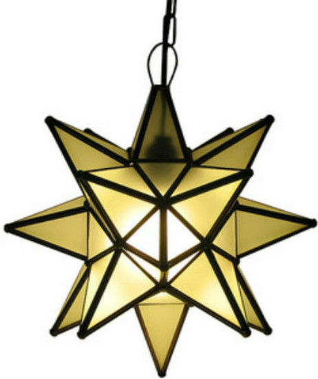 white stained glass star lamp