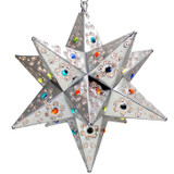 traditional tin star lamp