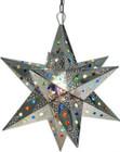 rustic tin star lamp