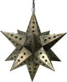 colonial tin star lamp