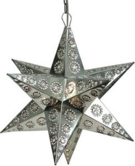 spanish tin star lamp