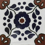 artisan crafted Mexican tile cobalt terracotta