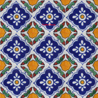 hand made Mexican tiles blue yellow