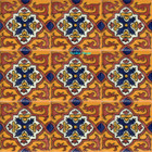 hand decorated Mexican tiles terracotta white