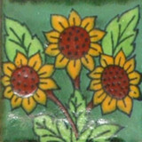 old European Mexican tile terracotta yellow