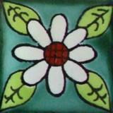 handmade Mexican tile white terracotta
