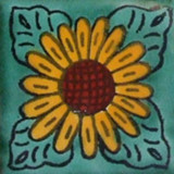 hand crafted Mexican tile yellow terracotta