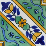 artisan crafted Mexican tile yellow blue