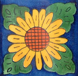 hand made Mexican tile yellow terracotta