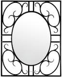 rectangular iron mirror
