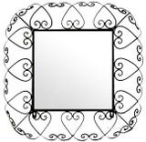 square iron mirror frame
