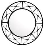 round handmade iron mirror