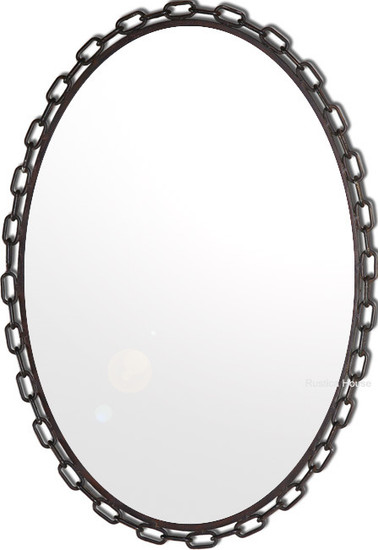 hand made iron mirror