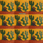 artisan crafted Mexican tiles green yellow