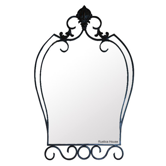 artistic iron mirror