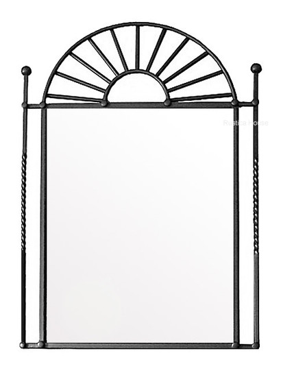 mexican iron mirror frame