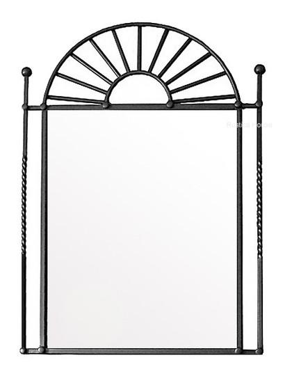 mexican iron mirror frame