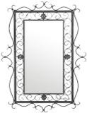 old european iron mirror