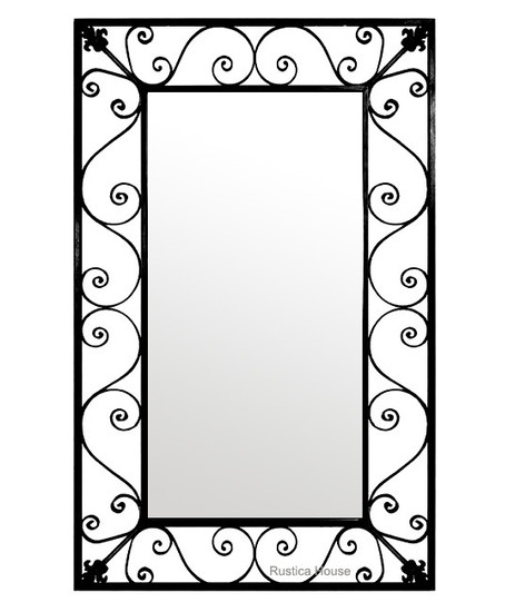 designer iron mirror