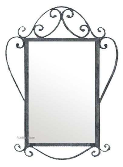 modern iron mirror