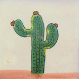 southern Mexican tile green terracotta
