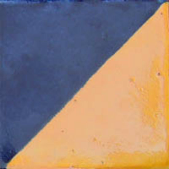 artisan made Mexican tile washed yellow