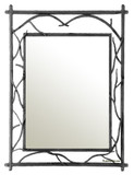 rectangular spanish iron mirror