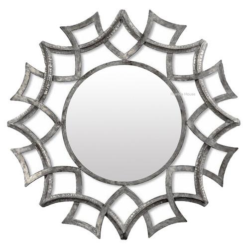 round wrought iron mirror