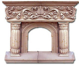 decorative stone fireplace