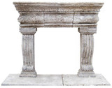 old european stone fireplace