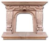 hacienda stone fireplace