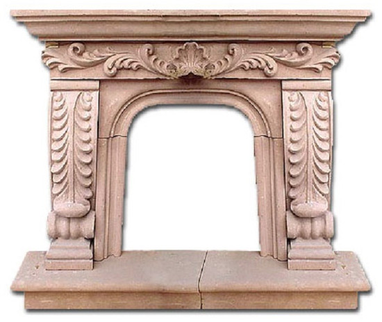 hacienda stone fireplace