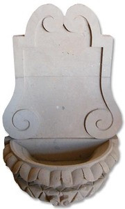 Spanish cantera wall fountain