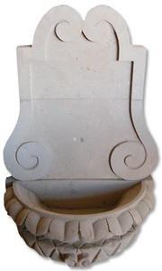 Spanish cantera wall fountain