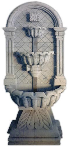 decorative cantera wall fountain