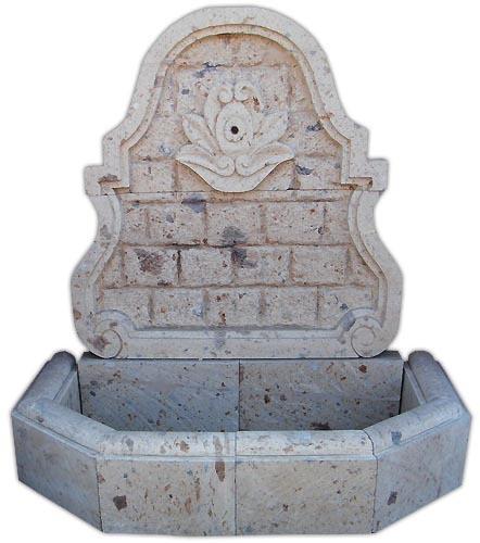 Mexican cantera wall fountain